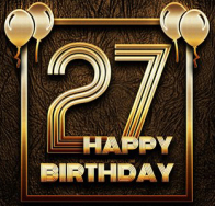 thumb2-happy-27th-birthday-golden-frames-4k-golden-glitter-signs-happy-27-years-birthday